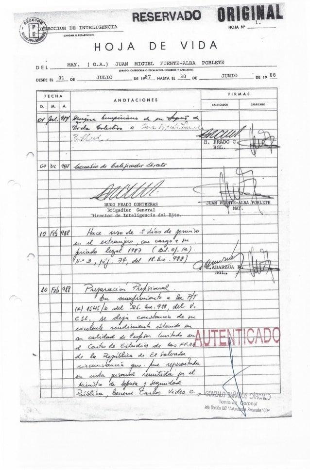 """Hoja de vida General Juan """"AUDI"""" Fuente-Alba"""