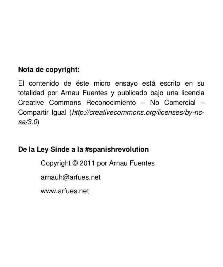 De la Ley Sinde a la #spanishrevolution Slide 3