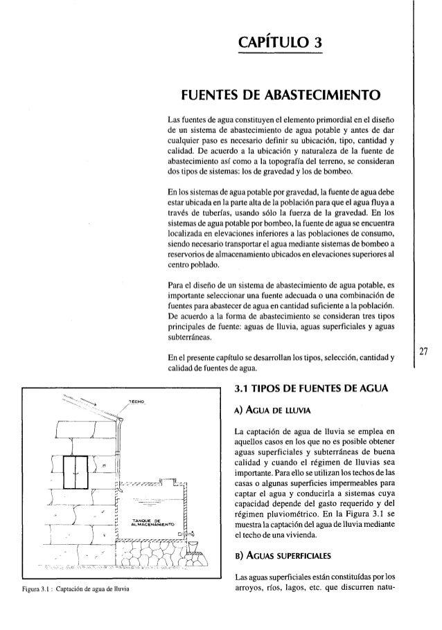 FUENTES DE ABASTECIMIENTO Las Fuentes De Agua Constituyen El Elemento  Primordial En El Diseno De Un ...