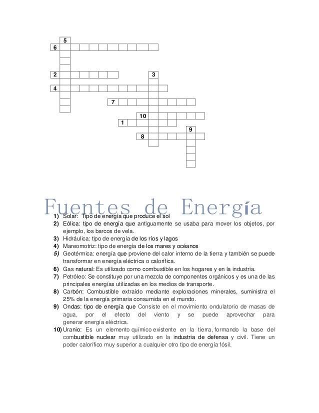 Fuentes de energ a crucigrama - En que consiste la energia geotermica ...