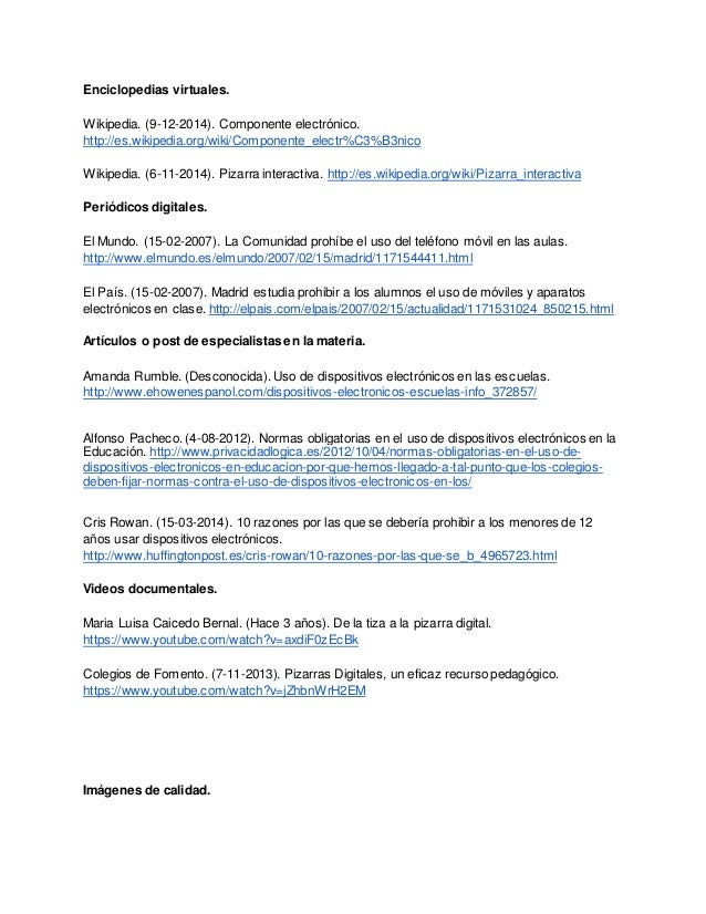 Enciclopedias virtuales. Wikipedia. (9-12-2014). Componente electrónico. http://es.wikipedia.org/wiki/Componente_electr%C3...