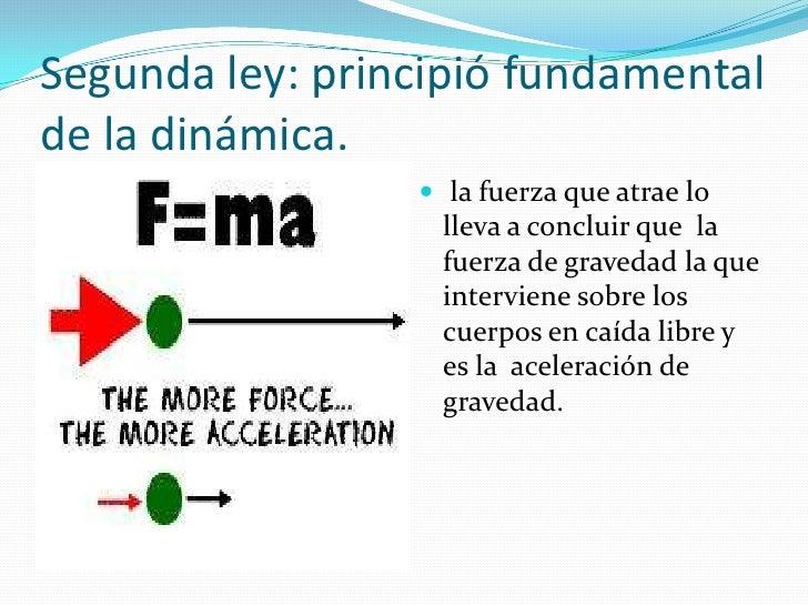 Tercera ley: acción - reacción                  cuando un cuerpo ejerce                  una fuerza sobre otro,          ...