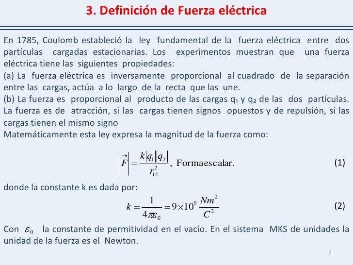 Fuerza electrica for Fuera definicion