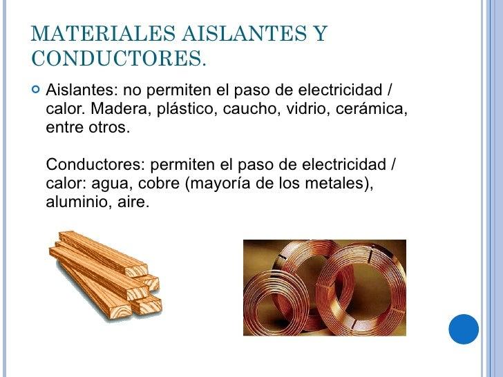 Fuerza electromotriz - Materiales aislantes del calor ...