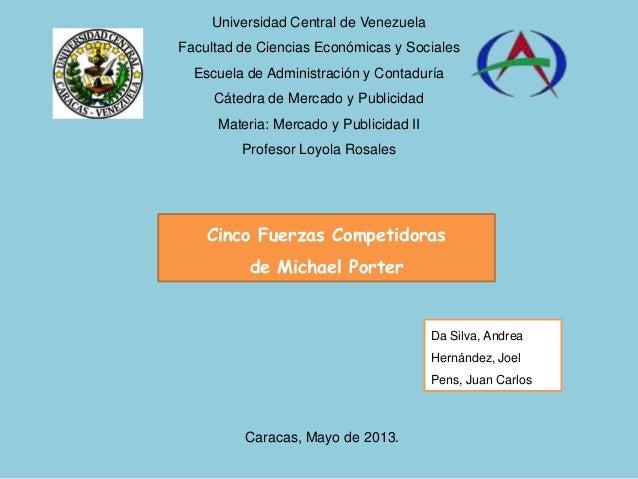 Universidad Central de VenezuelaFacultad de Ciencias Económicas y SocialesEscuela de Administración y ContaduríaCátedra de...