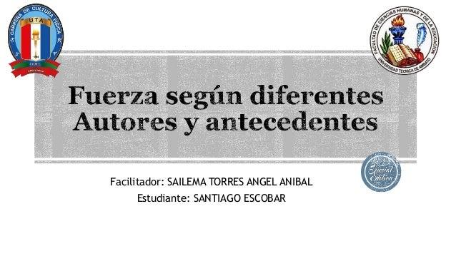 Facilitador: SAILEMA TORRES ANGEL ANIBAL Estudiante: SANTIAGO ESCOBAR