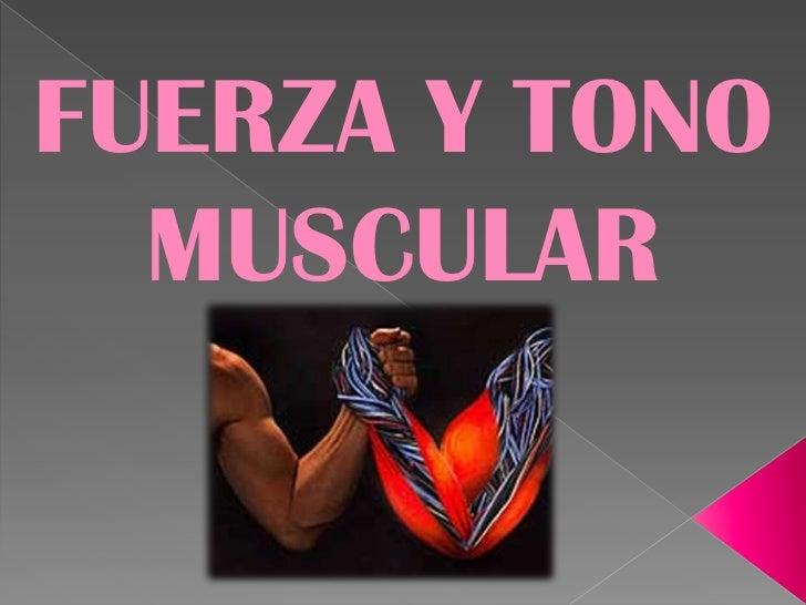 FUERZA Y TONO  MUSCULAR