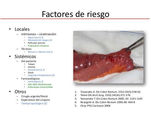 Factores de riesgo• Locales   –   Intrínsecos – cicatrización         •   Sepsis local (1,3)         •   Afectación del ma...