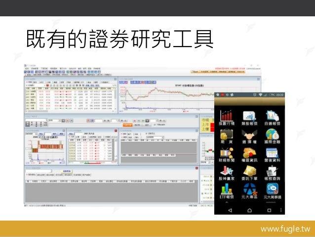 www.fugle.tw 既有的證券研究工具