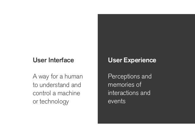 User Interface User Experience we can design this to affect this