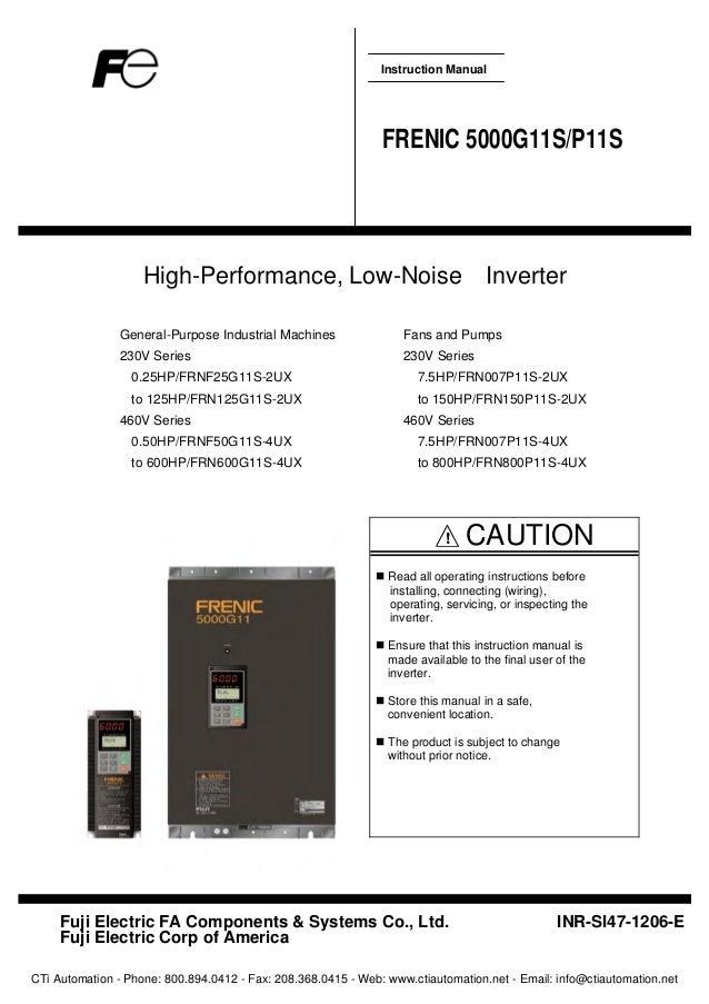 Fuji Frenic 5000 G11s P11s User Manual