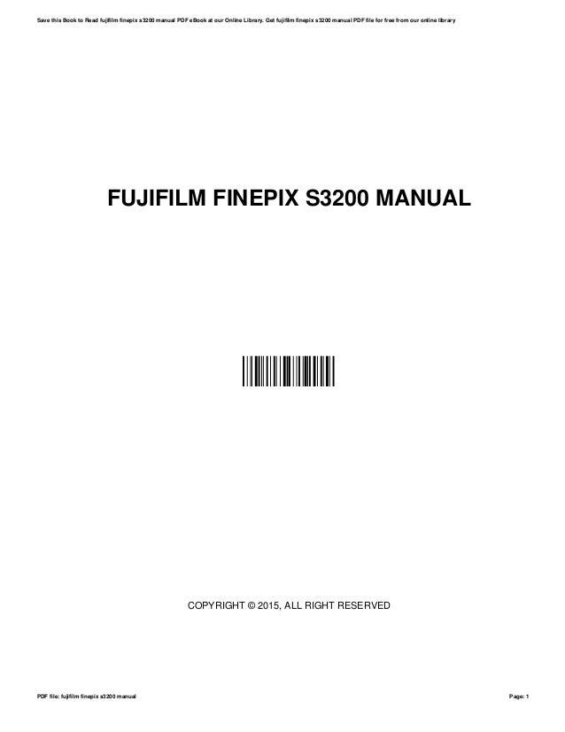 Finepix s3200 manual espanol.