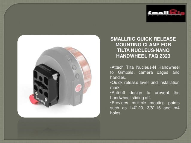 SMALLRIG Quick Release Mounting Clamp for Tilta Nucleus-Nano Handwheel FAQ2323