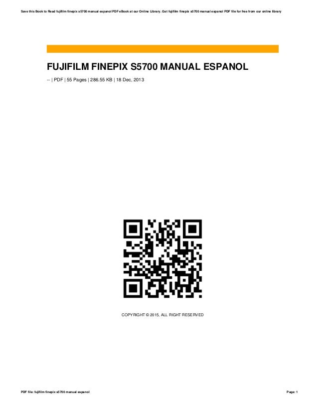 fujifilm finepix s5700 manual espanol rh slideshare net