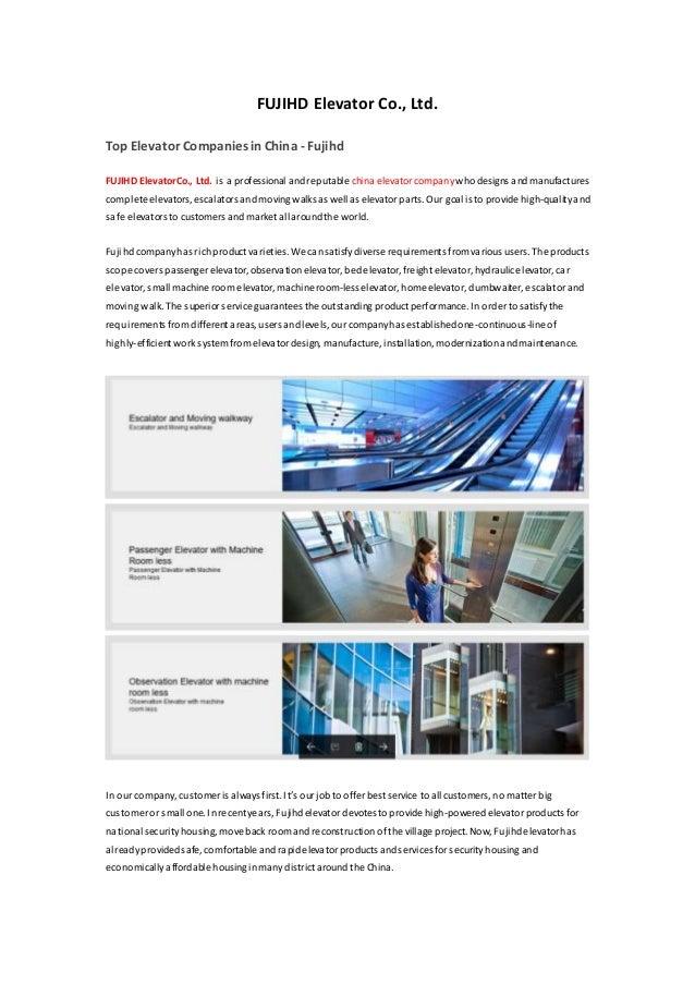 China Elevator Company - Fujihd net