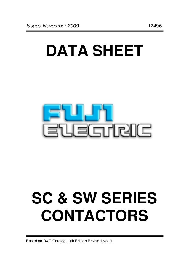 Fuji sc and sw series contactors
