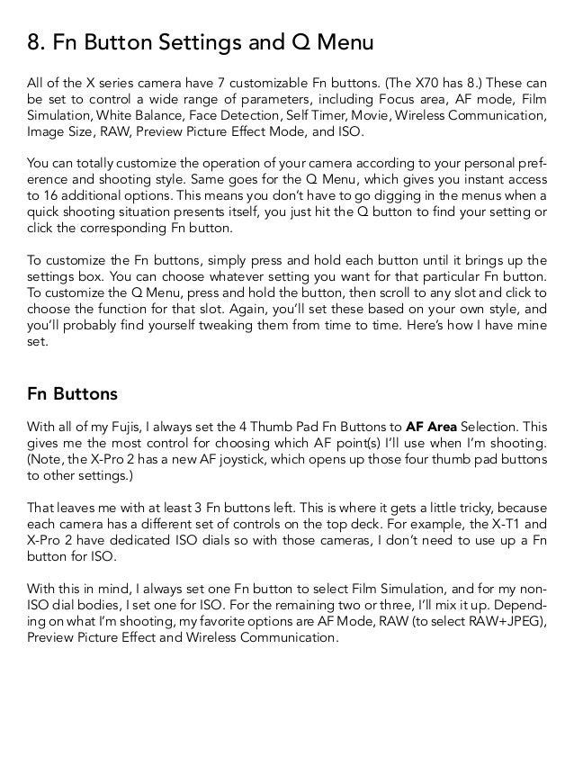 Fujifilm X-Series: Tips and Tricks