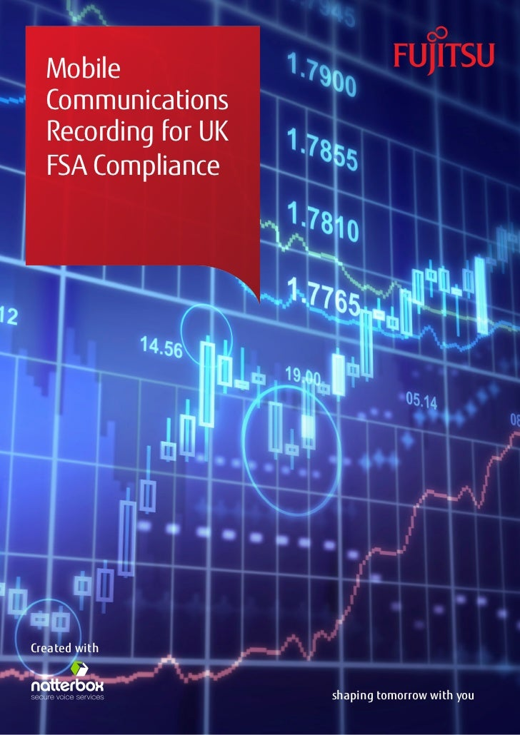 Mobile  Communications  Recording for UK  FSA ComplianceCreated with                     shaping tomorrow with you