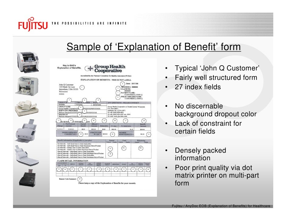 Fujitsu Scanners & AnyDoc® EOB (Explanation Of Benefits) For Healthca…