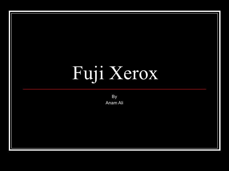 fuji xerox swot analysis