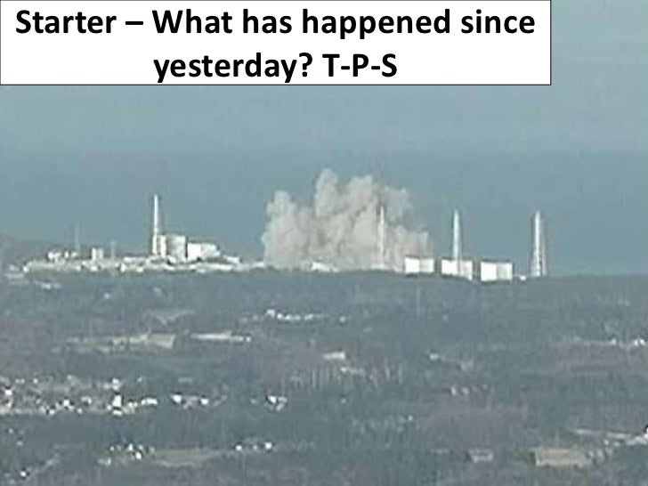Starter – What has happened since yesterday? T-P-S<br />