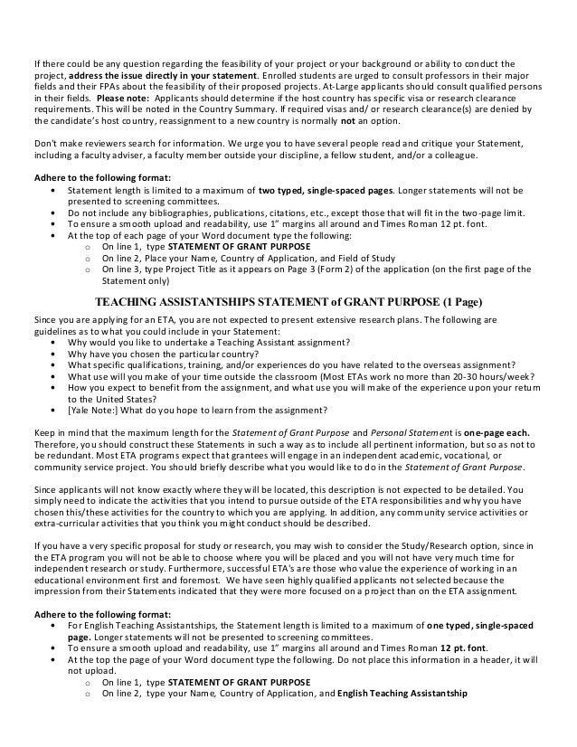sample personal statement fulbright eta