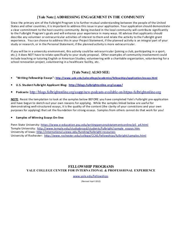 fulbright eta personal statement sample