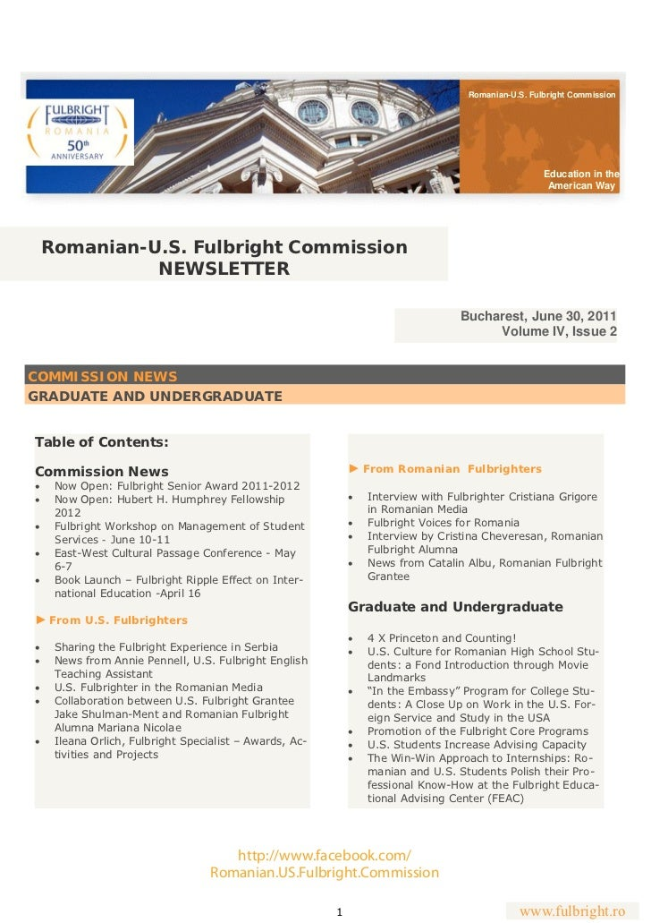 Romanian-U.S. Fulbright Commission                                                                                        ...