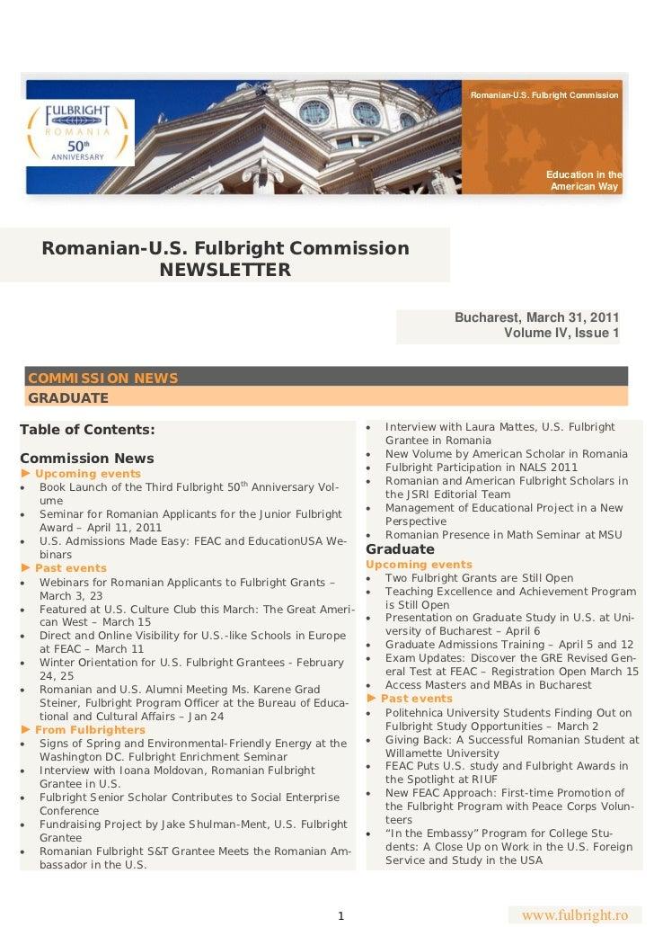 Romanian-U.S. Fulbright Commission                                                                                        ...