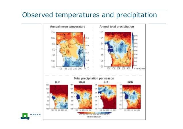 Observed temperatures and precipitation