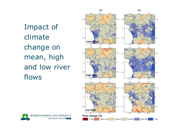 Impact ofclimatechange onmean, highand low riverflows