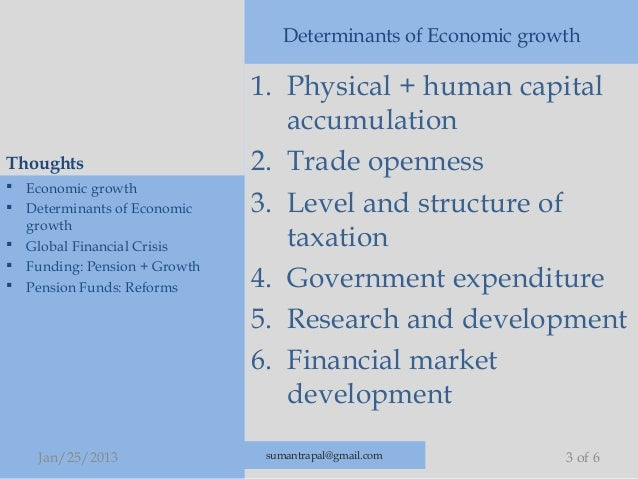 the determinant of economic growth in Determinants of economic growth have the current paper draws on a quesonnaire aracted increasing aenon in both survey addressed to various experts.