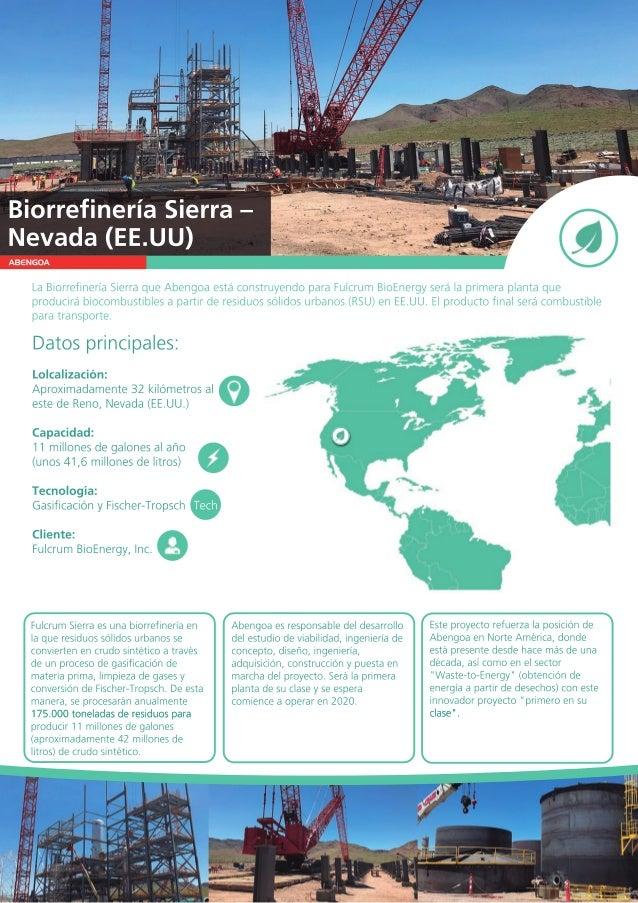 ABENGOA LaBiorrefineríaSierraqueAbengoaestáconstruyendoparaFulcrumBioEnergyserálaprimeraplantaque producirábiocombustibles...