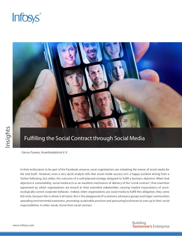 Insights                   Fulfilling the Social Contract through Social Media                - Simon Towers, Ananthalaksh...