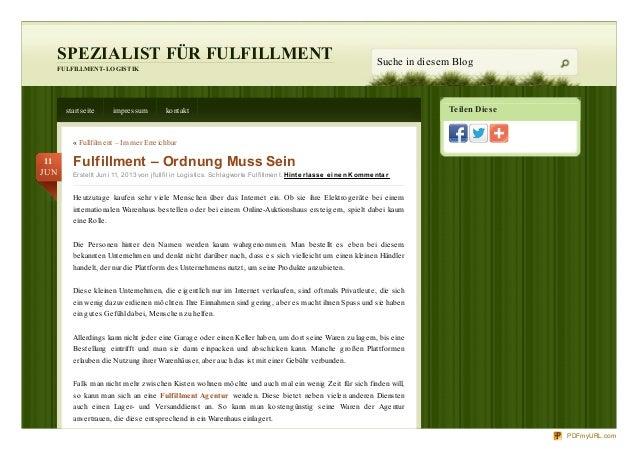 Teilen DieseSPEZIALIST FÜR FULFILLMENTFULFILLMENT-LOGISTIKSuche in diesem Blogstartseite impressum kontakt« Fullfilment – ...