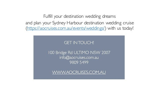 10 Fulfill Your Destination Wedding Dreams And Plan Sydney Harbour Cruise