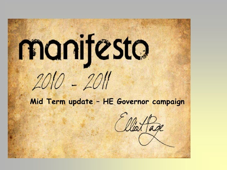 Mid Term update – HE Governor campaign<br />