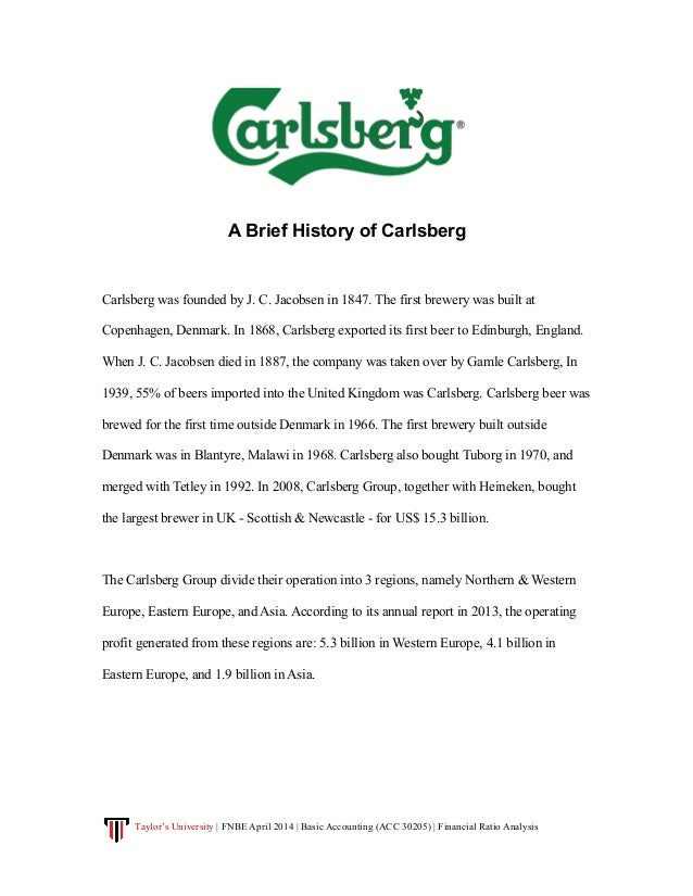 a company analysis of carlsberg brewery bhd View the latest carlsbg stock price with barron's including historical share prices, analysis, earnings, cash flow and market valuation for carlsberg brewery malaysia bhd.