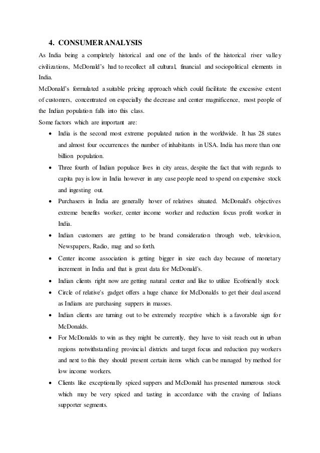 Mcdonalds Marketing Strategy Report