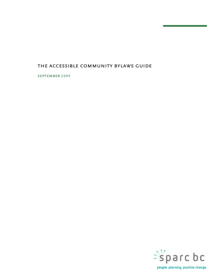 the accessible community bylaws guide september 2 0 0 9                                             the accessible communi...