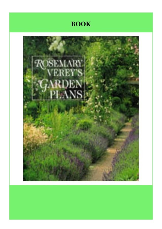 Full Download Rosemary Verey S Garden Plans Free Acces