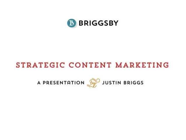 Strategic Content Marketing