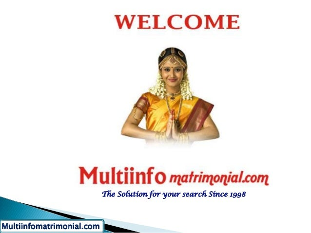 The Solution for your search Since 1998Multiinfomatrimonial.com