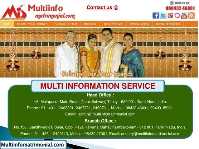 Tamil Matrimony - Multiinfomatrimonial com
