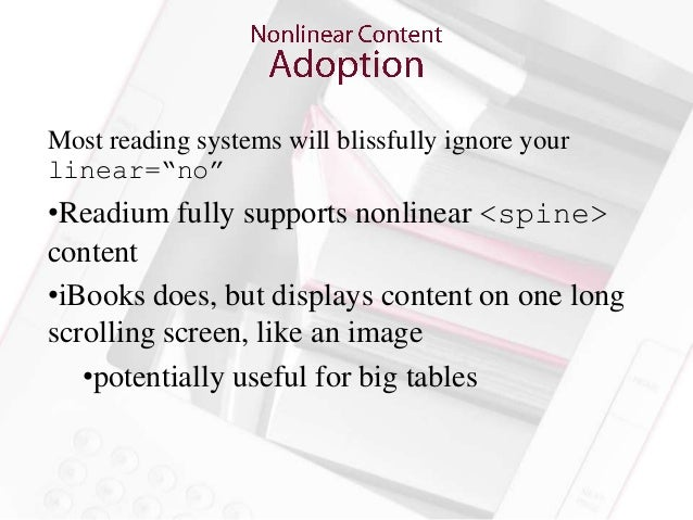 """Allows you to embed the location of print page breaksinto your epub• Lets you keep all those references to """"the table  on ..."""