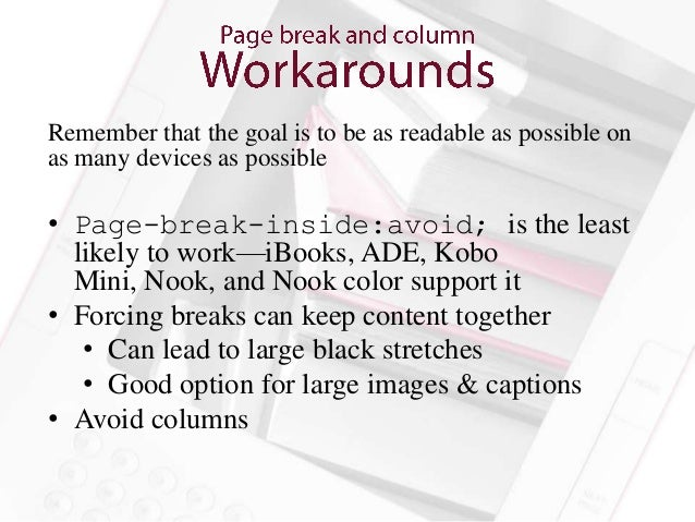 The main way for readers to get around your ebook• Container-constrained and spine-level JS  supported by iBooks, Kobo for...