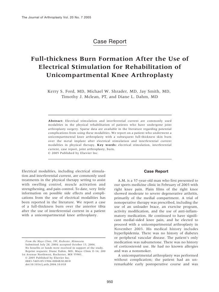 The Journal of Arthroplasty Vol. 20 No. 7 2005                                                    Case Report      Full-th...