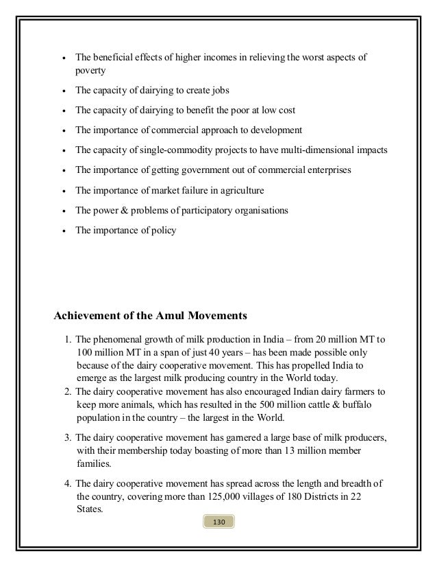project report on amul A project report on amul ice creams and project work  entitled as ³amul ice creams (sales and marketing)´ this study  was.