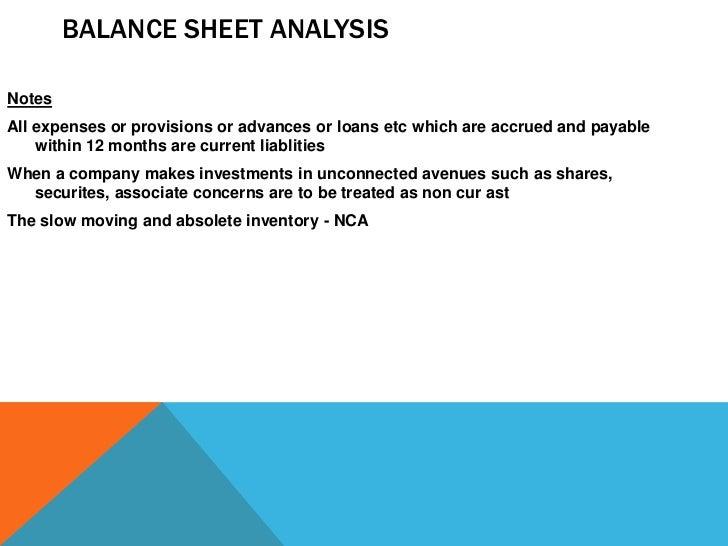 full balance sheet  u0026 profit  u0026 loss analysis