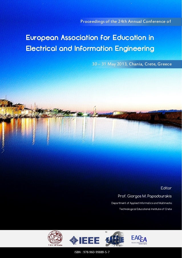 Proceedings of the 24th Annual Conference of  European Association for Education in Electrical and Information Engineering...